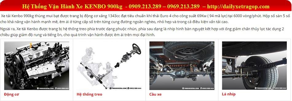 Xe Tải KENBO 900Kg Thùng Kín | KENBO 900Kg | Giá Xe KEBO Thùng Kín | 0909213289