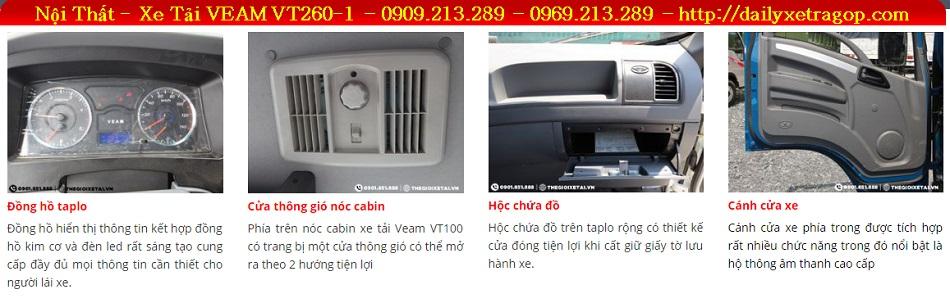 Xe VEAM VT260-1 1.85 Tấn   Xe VEAM VT260-1 Thùng Lững   Xe Tải VEAM VT260-1 Thùng Bạt   VEAM VT260-1 Thùng Kín  