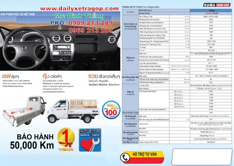 Xe Tải Thái Lan 710kg   Xe Thái Lan 710kg   Giá Xe Thái lan   LE DINH THANG   0909213289