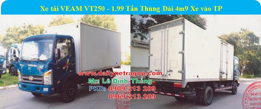Xe VEAM VT250 1.99 Tấn thùng 5m | Xe VEAM 1T99 | Giá Xe VEAM 1t9 | LÊ ĐINH THANG | 0909213289